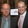 Simon Hughes and Andrew Strauss at Lords